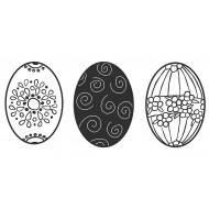 Egg Trio Large Rubber Stamps
