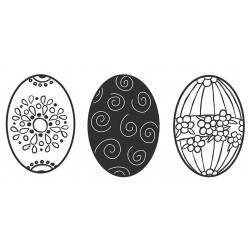 Egg Trio Large Cling Rubber Stamps