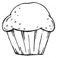 Muffin Rubber Stamp