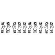 Reindeer Border Rubber Stamp