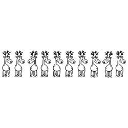 Reindeer Border Cling Rubber Stamp