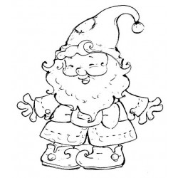 Gnomie Cling Rubber Stamp