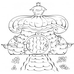 Gnomie Cottage Cling Rubber Stamp