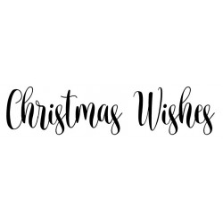 Christmas Wishes Rubber Stamp