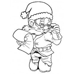 Checking It Twice Elf Gnome Cling Rubber Stamp