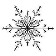 Delicate Snowflake cling mounted rubber stamp