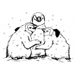 Penguin Chicks Cling Rubber Stamp
