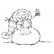 Jolly Snowman Cling Rubber Stamp