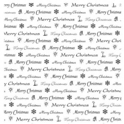 Christmas Text Square Rubber Stamp