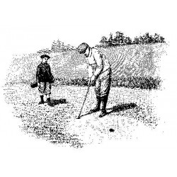 Golf Scene Rubber Stamp