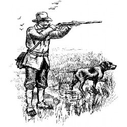 Hunting/Country Gent Rubber Stamp