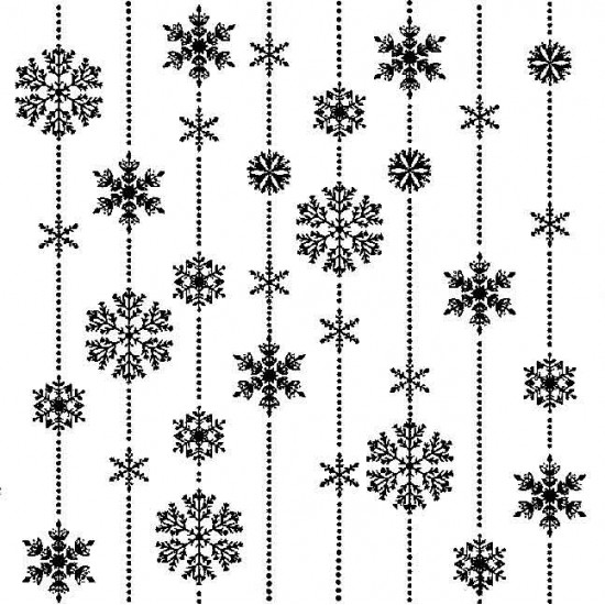 Snowflake Strings Cling Mounted Rubber Stamp
