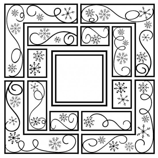 Snowflake Frames Rubber Stamp
