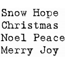 Snow Hope Distress Words Rubber Stamp Set