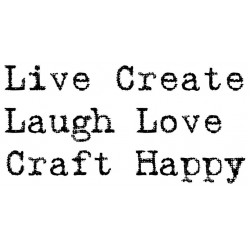 Live, Create, Craft, Happy Rubber Stamp Set
